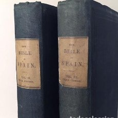 Libros antiguos: BORROW : THE BIBLE IN SPAIN (2 VOLUM. 1843. 3ª ED DEL MISMO AÑO QUE LA PRIMERA. Lote 117173411