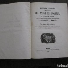 Libros antiguos: VALLE DEL TORRANZO-BAÑOS MINERALES ONTANEDA Y ALCEDA -RUIZ DE SALAZAR 1850- VER FOTOS -(XL-70). Lote 118360035