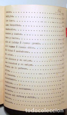 Libros antiguos: ALCÁNTARA, Juan - VEINTICINCO AÑOS MARRUECOS. Descripción costumbres Indígenas y hebreos - Inédito - Foto 3 - 118919274