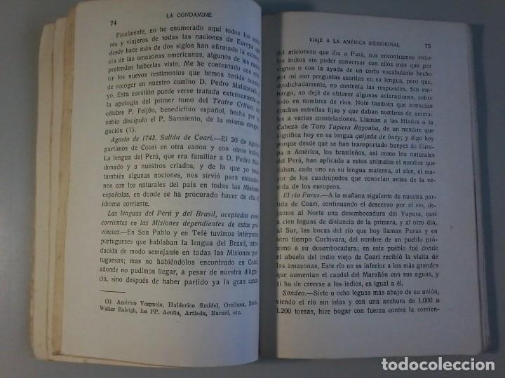 Libros antiguos: VIAJE A LA AMERICA MERIDIONAL - LA CONDAMINE - CALPE - VIAJES CLASICOS - 1941 - Foto 6 - 120481095