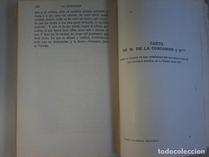 Libros antiguos: VIAJE A LA AMERICA MERIDIONAL - LA CONDAMINE - CALPE - VIAJES CLASICOS - 1941 - Foto 7 - 120481095