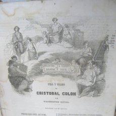 Libros antiguos: S.XIX PRECIOSO LIBRO 1827 BIOGRAFÍA DE CRISTÓBAL COLÓN DE WASHINGTON IRVING EN CASTELLANO. Lote 121075271