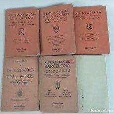 Libros antiguos: LOTE DE 5 LIBROS DE EDITORIAL ALPINA Y MAPA DE CARENAS. GRANOLLERS. 1948-1969.. Lote 122065127