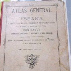 Libros antiguos: ATLAS GENERAL DE ESPAÑA. 1921. Lote 122278770