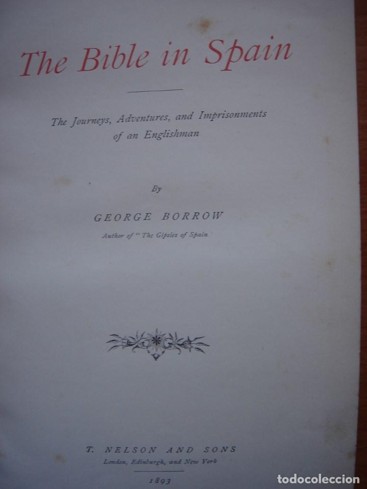 Libros antiguos: ESPLÉNDIDO LIBRO DE VIAJES POR ESPAÑA, ORIGINAL, LONDRES....., 1893, BORROW, 11 ESPLÉNDIDOS GRABADOS - Foto 12 - 124403599