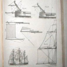 Libros antiguos: ARTE DE APAREJAR Y MANIOBRAS DE LOS BUQUES 2 TOMOS. MADRID 1859. DARCY LEVER.. Lote 124497055