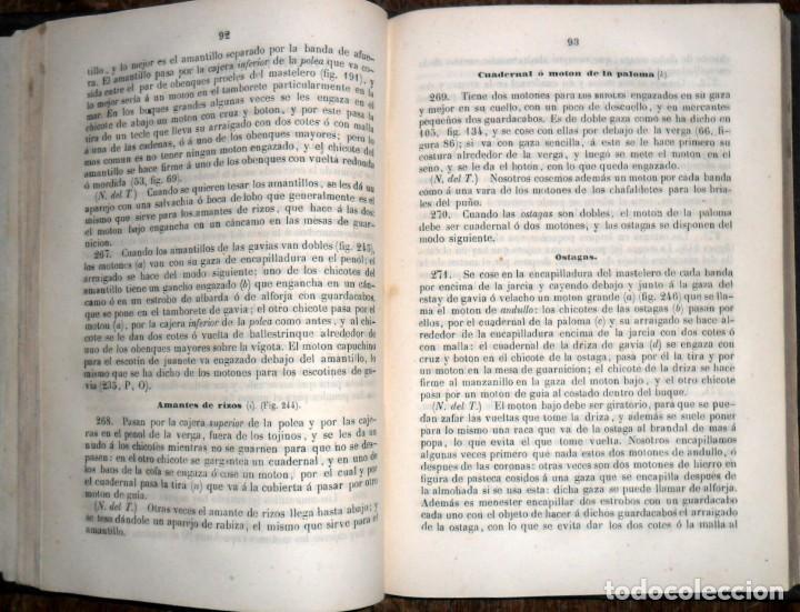 Libros antiguos: Arte De Aparejar Y Maniobras De Los Buques 2 Tomos. Madrid 1859. Darcy Lever. - Foto 3 - 124497055