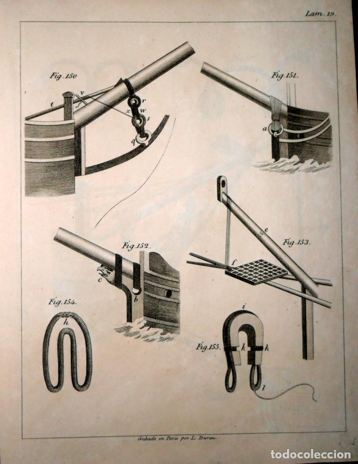 Libros antiguos: Arte De Aparejar Y Maniobras De Los Buques 2 Tomos. Madrid 1859. Darcy Lever. - Foto 4 - 124497055