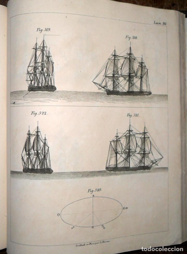 Libros antiguos: Arte De Aparejar Y Maniobras De Los Buques 2 Tomos. Madrid 1859. Darcy Lever. - Foto 5 - 124497055