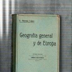 Libros antiguos: FUNDAMENTOS DE LA GEOGRAFIA. EDUARDO MORENO LOPEZ. EDITORIAL ATLANTE. 1923.. Lote 124776019