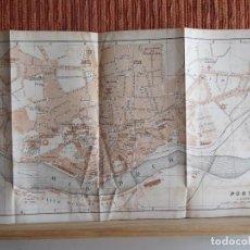 Libros antiguos: 1901- MAPA PLANO BAEDEKER. ORIGINAL. PORTO. OPORTO. PORTUGAL. Lote 125401719