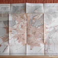 Libros antiguos: 1901- MAPA PLANO BAEDEKER. ORIGINAL. GRANADA. Lote 125401843