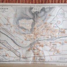 Libros antiguos: 1901- MAPA PLANO BAEDEKER. ORIGINAL. BURGOS. Lote 125402223