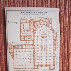 Libros antiguos: 1901- MAPA PLANO BAEDEKER. ORIGINAL. CATEDRAL DE TOLEDO. PLANTA. Lote 125422015