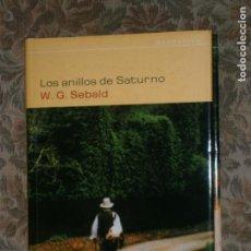 Libros antiguos: F1 LOS ANILLOS DE SATURNO W. G. SEBALD. Lote 125430591