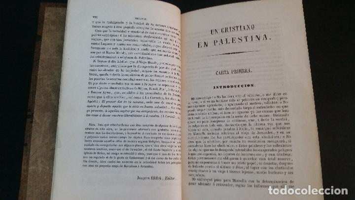 Libros antiguos: 1855 - F. VALLESCÁ - Un cristiano en Palestina, ó sea Un viaje de Barcelona a Jerusalén en 1853 - Foto 4 - 125737795