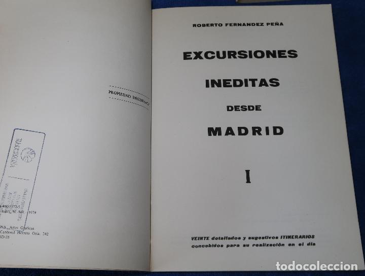 Libros antiguos: Excursiones Inéditas desde Madrid I, II y III - Roberto Fernández Peña (1980) - Foto 2 - 126479055
