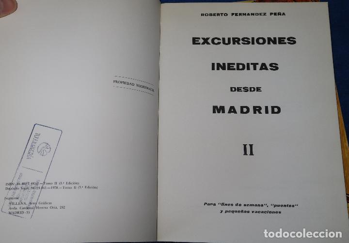 Libros antiguos: Excursiones Inéditas desde Madrid I, II y III - Roberto Fernández Peña (1980) - Foto 3 - 126479055