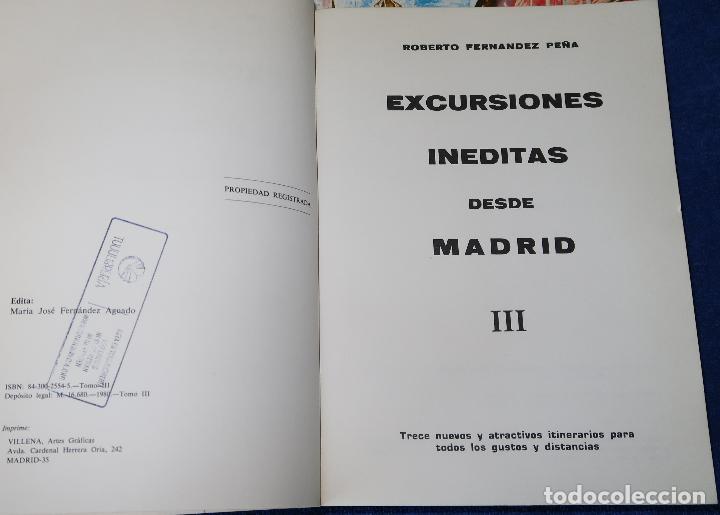Libros antiguos: Excursiones Inéditas desde Madrid I, II y III - Roberto Fernández Peña (1980) - Foto 4 - 126479055