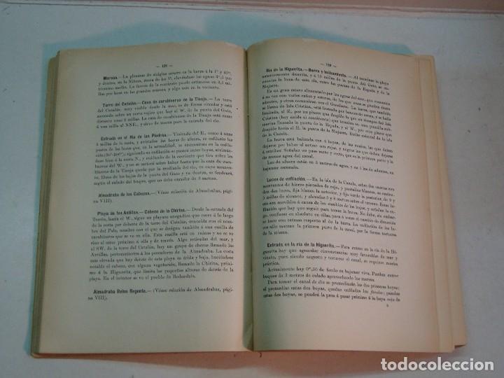 Libros antiguos: Derrotero de las costas de España y Portugal (1915) - Foto 6 - 127264079