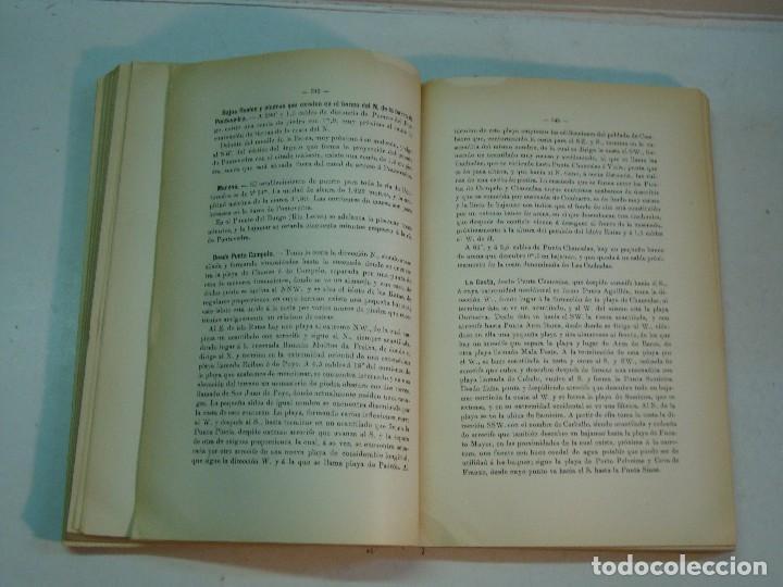 Libros antiguos: Derrotero de las costas de España y Portugal (1915) - Foto 7 - 127264079