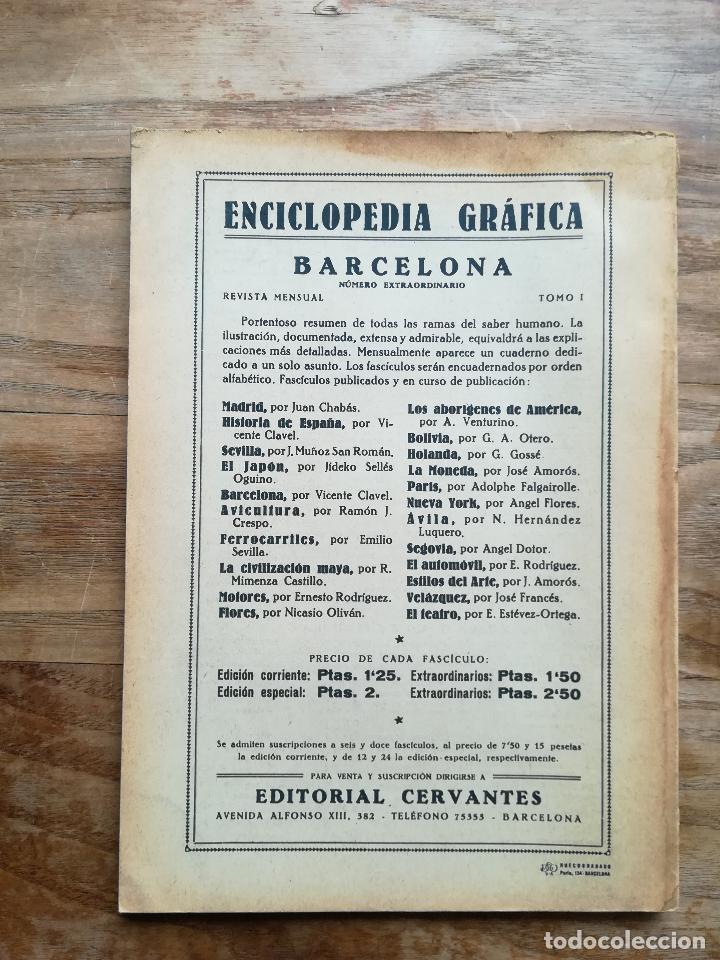 Libros antiguos: Enciclopedia Gráfica: Barcelona - CLAVEL, Vicente, 1929 - Foto 4 - 120171030