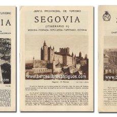 Libros antiguos: SEGOVIA. ITINERARIOS I, II Y III [COMPLETO]. JUNTA PROVINCIAL DE TURISMO, [H. 1930]. ILUSTRADO. Lote 127819443