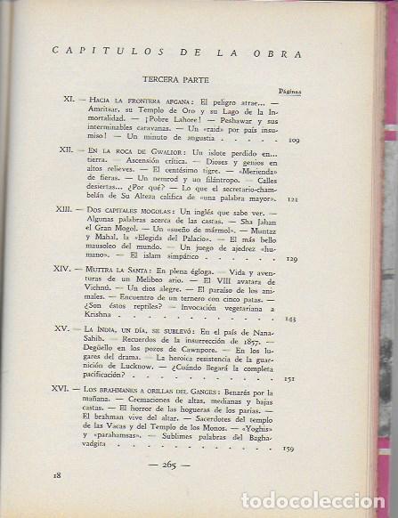 Libros antiguos: La india misteriosa. Rajahs, Brahmanes y Faquires / R. Chauvelot. BCN : J.Gil, 1929. 1ªed. Tapa dura - Foto 5 - 127897067