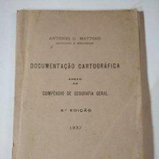 Libros antiguos: DOCUMENTACIÓN CARTOGRÁFICA - 1937 - 31 MAPAS. Lote 128181447