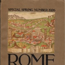 Libros antiguos: ROME PAST AND PRESENT. THE STUDIO - LONDON 1926. Lote 128602759