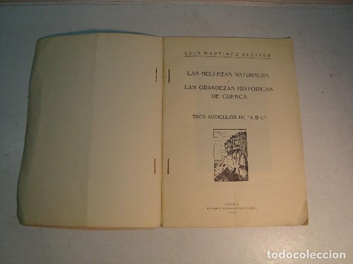 Libros antiguos: Lote Cuenca:Las Bellezas naturales y las grandezas históricas de Cuenca (1927)-Guía Larrañaga (1929) - Foto 4 - 128751839