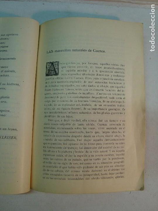 Libros antiguos: Lote Cuenca:Las Bellezas naturales y las grandezas históricas de Cuenca (1927)-Guía Larrañaga (1929) - Foto 5 - 128751839