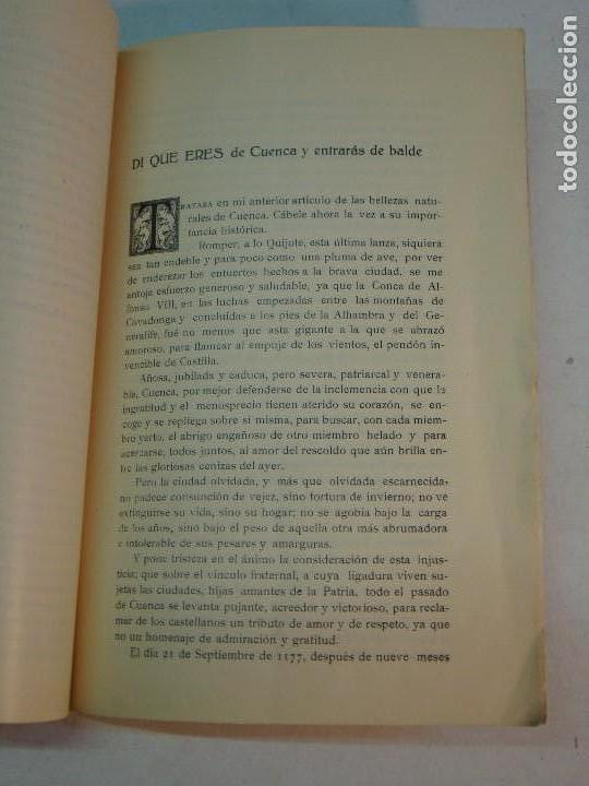 Libros antiguos: Lote Cuenca:Las Bellezas naturales y las grandezas históricas de Cuenca (1927)-Guía Larrañaga (1929) - Foto 6 - 128751839