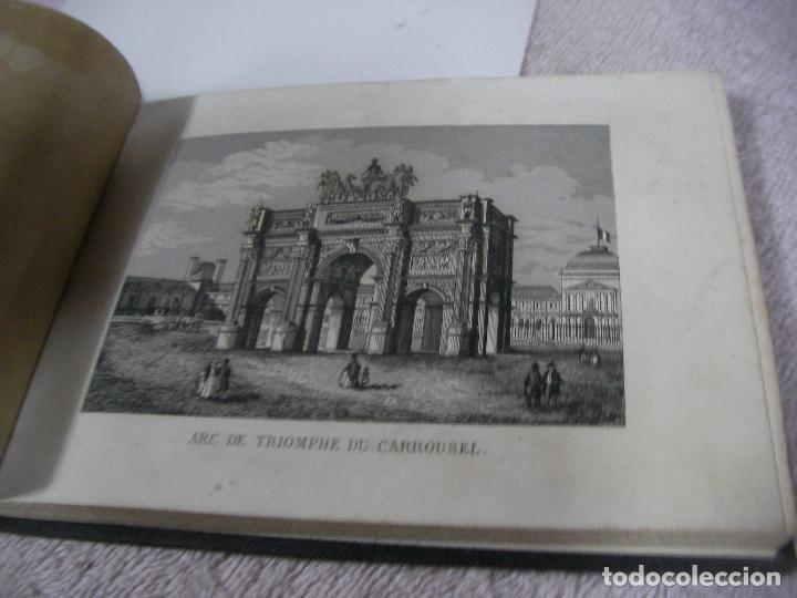 Libros antiguos: ANTIGUO LIBRO DE IMAGENES VISTAS DE PARIS Y SUS ALREDEDORES - VUES DE PARIS DE SES ENVIRONS - Foto 5 - 128811455