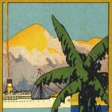 Libros antiguos: 1927 IMPORTANTE FOLLETO DE VIAJES DE LA UNITED FRUIT COMPANY (IMPERIALISMO YANQUI EN CENTROAMÉRICA). Lote 129451831