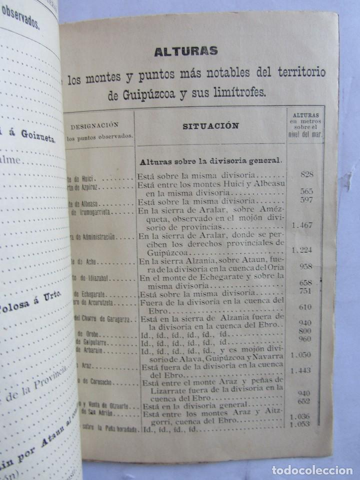 Libros antiguos: Estados indicadores de las distancias kilométricas. Provincia de Guipuzcoa. San Sebastián 1898 - Foto 5 - 129644871