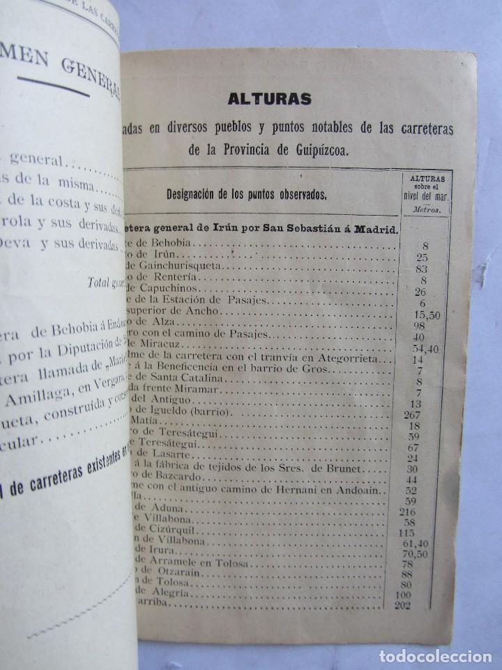 Libros antiguos: Estados indicadores de las distancias kilométricas. Provincia de Guipuzcoa. San Sebastián 1898 - Foto 6 - 129644871