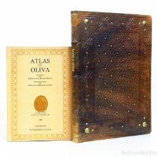 Libros antiguos: ATLAS DE OLIVA. BELLO FACSÍMIL DEL ATLAS DE JOAN RICZO DE 1580. TESTIMONIO, 1987. 2 TOMOS.. Lote 130221583