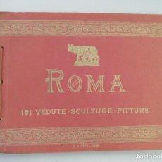Libros antiguos: RICORDO DI ROMA - 151 IMAGENES - VEDUTE SCULTURE PITTURE. Lote 130595062