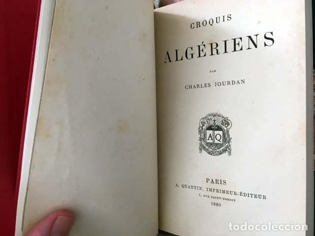 Libros antiguos: Croquis algériens (P., 1880) (Libro de viajes: Argelia: Costumbres, Ramadán, Familia, Mujer árabe, J - Foto 2 - 130610406