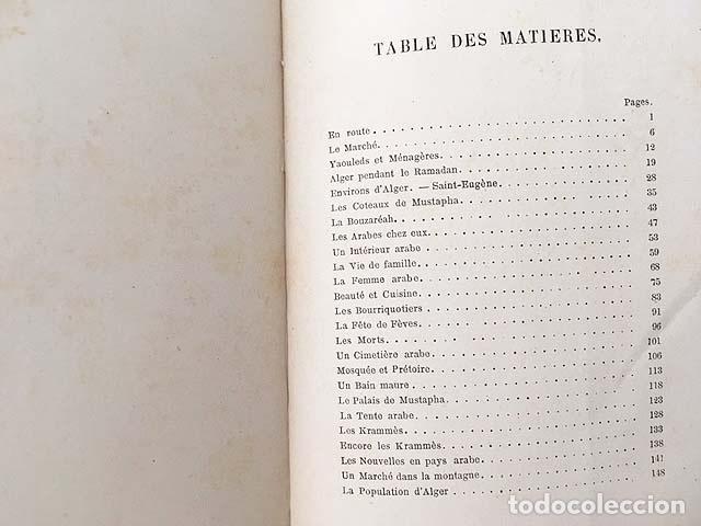 Libros antiguos: Croquis algériens (P., 1880) (Libro de viajes: Argelia: Costumbres, Ramadán, Familia, Mujer árabe, J - Foto 4 - 130610406