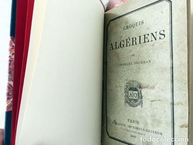 Libros antiguos: Croquis algériens (P., 1880) (Libro de viajes: Argelia: Costumbres, Ramadán, Familia, Mujer árabe, J - Foto 5 - 130610406