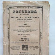 Libros antiguos: PANORAMA UNIVERSAL. ITALIA CUADERNO 125 Y 126. GUARDIA NACIONAL. 1840. GRABADOS. BARCELONA.. Lote 130837473