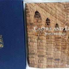 Libros antiguos: LIBRO CASTILE AND LEÓN WORLD HERITAGE - CASTILLA Y LEÓN - EDICIÓN ESPECIAL EN INGLÉS CON ESTUCHE . Lote 131526722