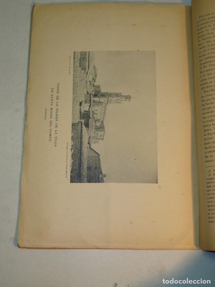 Libros antiguos: Eloy García de Quevedo y Concellón: Excursiones por la Provincia de Burgos (1899) (dedicado) - Foto 5 - 132184986