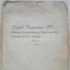 Libros antiguos: CARTA NAÚTICA, NAVAL MANOEUVRES 1899, LONDON 1900, PLANO PLEGADO EN EL INTERIOR. Lote 134180938