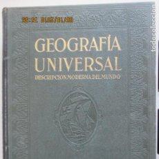 Libros antiguos: GEOGRAFÍA UNIVERSAL. DESCRIPCIÓN MODERNA DEL MUNDO. TOMO II. EUROPA MENOS ESPAÑA Y PORTUGAL. 1929. Lote 135518646