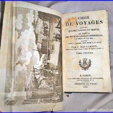 Libros antiguos: AÑO 1823: LIBRO DE VIAJES A EUROPA CON BONITA PÁGINA PLEGADA. CASI 200 AÑOS DE ANTIGÜEDAD.. Lote 135834994