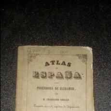 Libros antiguos: COELLO. MAPA DE GUIPUZCOA DEL XIX.. Lote 136299994