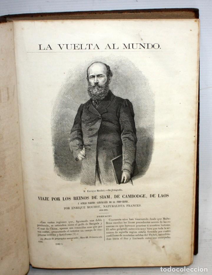 Libros antiguos: LA VUELTA AL MUNDO,DE GASPAR Y ROIG- 6 TOMOS-MADRID-1868. - Foto 4 - 136484446